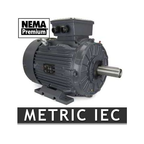 15 HP Metric IEC Motor - Frame: 160MB35 - RPM: 1800