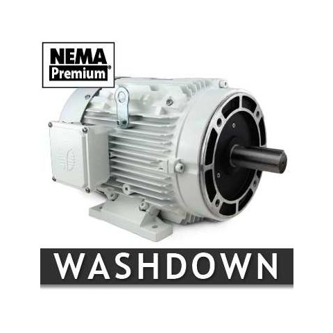 3 HP Washdown Motor - Frame: 182TC - RPM: 1800
