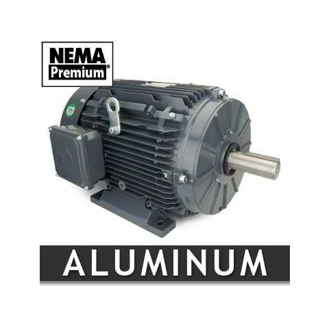 1 HP Three Phase Aluminum Motor - Frame: 143T - RPM: 1800