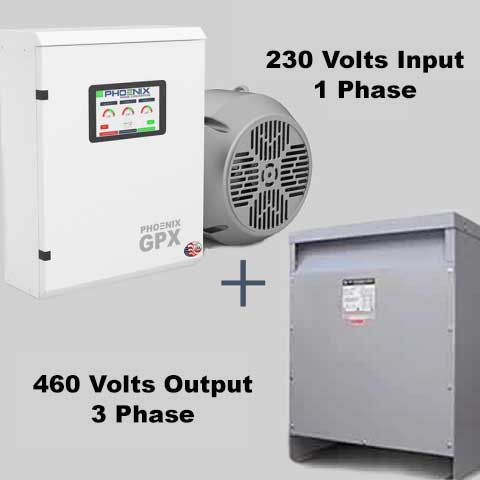 15HP Phase Converter / Transformer Package - 230V Single Phase to 460V 3 Phase