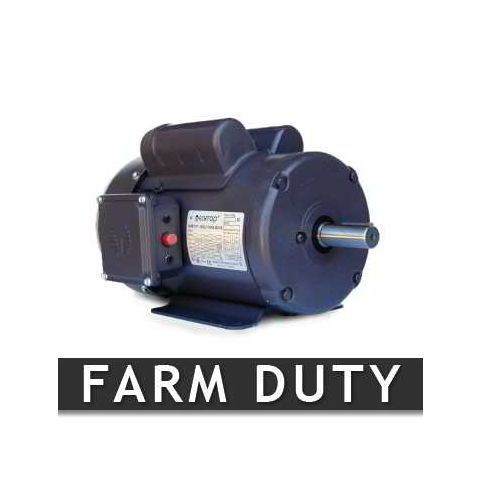 1 HP Farm Duty Motor - Frame: 143T - RPM: 1800