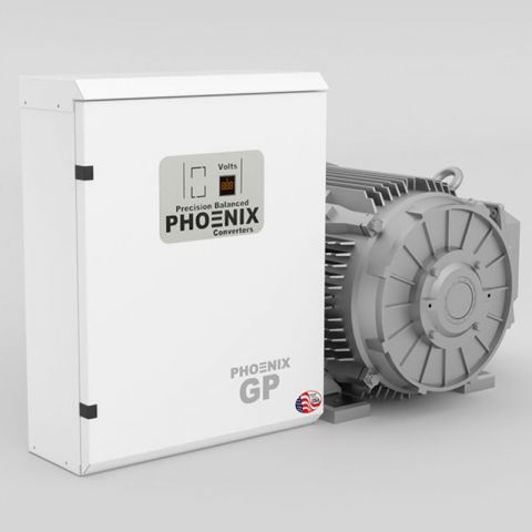 15 HP Rotary Phase Converter - GP15NL Single Phase to Three Phase