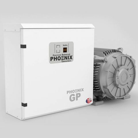 60 HP Rotary Phase Converter - GP60NL Single Phase to Three Phase Converter